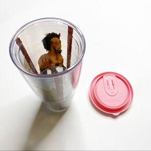 Tervis Tumbler Horses Pink Lid Large Cup Plastic